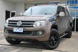 2014 Volkswagen Amarok 2H MY13 TDI400 Highline (4x4) Brown 6 Speed Manual Dual Cab Utility.