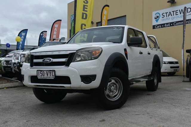 Used Ford Ranger PK XL Hi-Rider (4x2) Capalaba, 2010 Ford Ranger PK XL Hi-Rider (4x2) White 5 Speed Automatic Dual Cab Pick-up