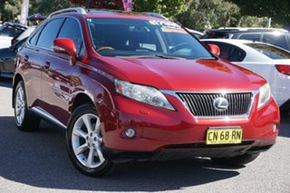 2009 Lexus RX GGL15R RX350 Sports Luxury Red 6 Speed Sports Automatic Wagon.
