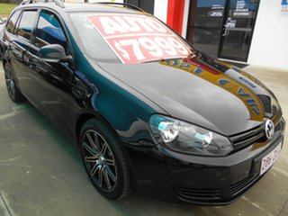 2010 Volkswagen Golf VI MY11 90TSI DSG Trendline Black 7 Speed Sports Automatic Dual Clutch Wagon.