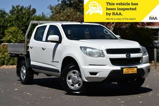 2015 Holden Colorado RG MY16 LS Crew Cab White 6 Speed Manual Utility.