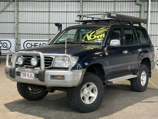 1999 Toyota Landcruiser FZJ105R GXL Blue 5 Speed Manual Wagon.