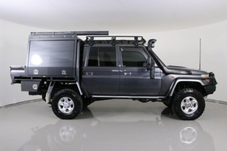 2014 Toyota Landcruiser VDJ79R MY12 Update GXL (4x4) Graphite 5 Speed Manual Double Cab Chassis