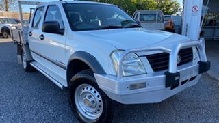 2003 Holden Rodeo LX 4x4 White 5 Speed Manual Dual Cab.