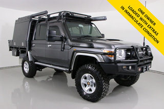 2014 Toyota Landcruiser VDJ79R MY12 Update GXL (4x4) Graphite 5 Speed Manual Double Cab Chassis.