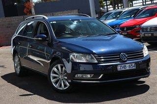 2012 Volkswagen Passat Type 3C MY12.5 118TSI DSG Blue 7 Speed Sports Automatic Dual Clutch Wagon.