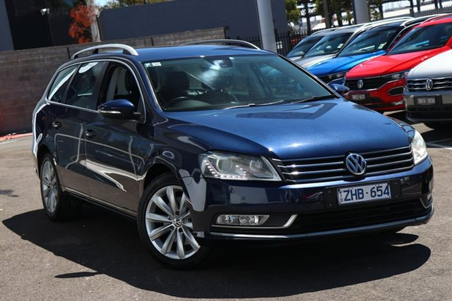 Used Volkswagen Passat Type 3C MY12.5 118TSI DSG Port Melbourne, 2012 Volkswagen Passat Type 3C MY12.5 118TSI DSG Blue 7 Speed Sports Automatic Dual Clutch Wagon