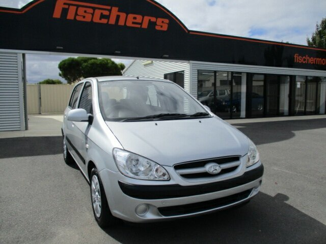 Used Hyundai Getz TB MY07 SX Murray Bridge, 2008 Hyundai Getz TB MY07 SX Silver 4 Speed Automatic Hatchback
