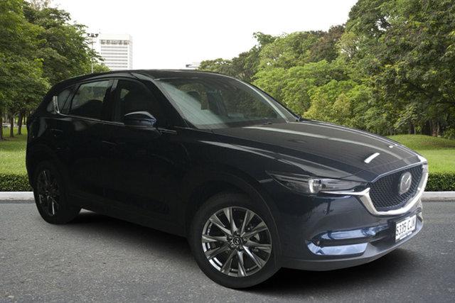 Demo Mazda CX-5 KF4WLA Akera SKYACTIV-Drive i-ACTIV AWD Paradise, 2020 Mazda CX-5 KF4WLA Akera SKYACTIV-Drive i-ACTIV AWD Deep Crystal Blue 6 Speed Sports Automatic