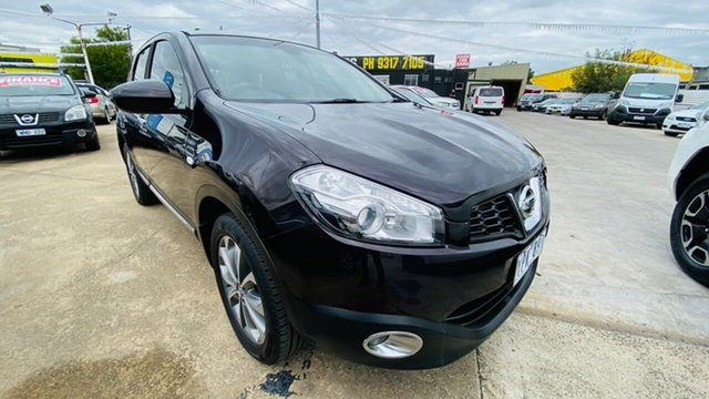 Used Nissan Dualis J10 Series II MY2010 Ti Hatch X-tronic Maidstone, 2011 Nissan Dualis J10 Series II MY2010 Ti Hatch X-tronic Purple 6 Speed Constant Variable Hatchback