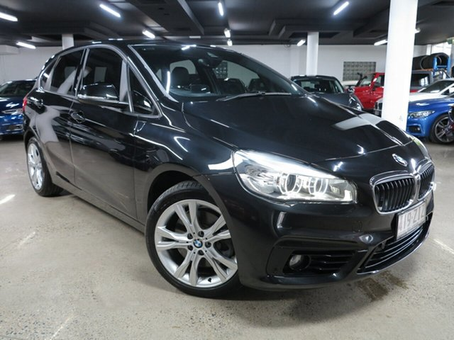 Used BMW 2 Series F45 225i Active Tourer Sport Line Albion, 2014 BMW 2 Series F45 225i Active Tourer Sport Line Black 8 Speed Sports Automatic Hatchback
