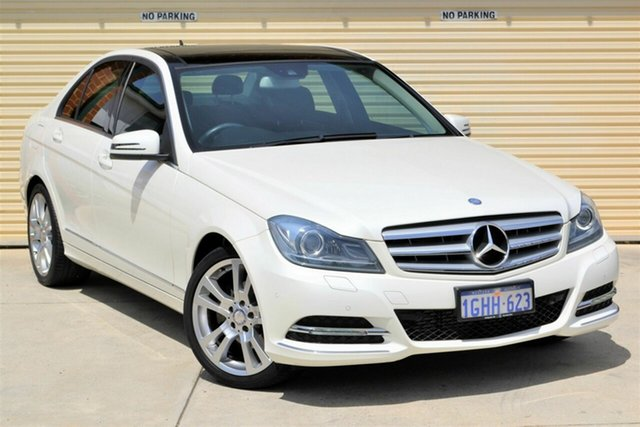Used Mercedes-Benz C-Class W204 MY12 C250 BlueEFFICIENCY 7G-Tronic + Avantgarde Mount Lawley, 2012 Mercedes-Benz C-Class W204 MY12 C250 BlueEFFICIENCY 7G-Tronic + Avantgarde Pearl White 7 Speed