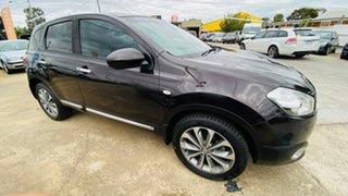 2011 Nissan Dualis J10 Series II MY2010 Ti Hatch X-tronic Purple 6 Speed Constant Variable Hatchback.