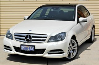 2012 Mercedes-Benz C-Class W204 MY12 C250 BlueEFFICIENCY 7G-Tronic + Avantgarde Pearl White 7 Speed.