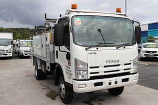 2011 Isuzu NPS300 White Manual Truck.