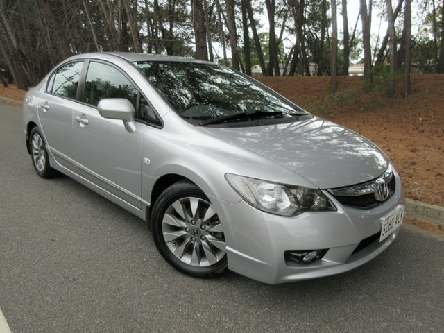 Used Honda Civic 8th Gen MY10 VTi Reynella, 2010 Honda Civic 8th Gen MY10 VTi Silver 5 Speed Automatic Sedan