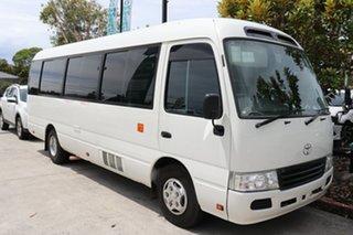 2008 Toyota Coaster 50 Deluxe White Manual Midi Coach.