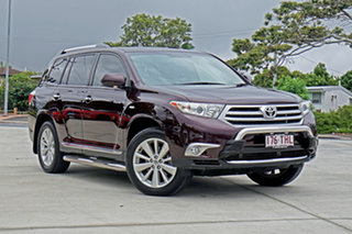 2013 Toyota Kluger GSU45R MY12 Grande AWD Crimson 5 Speed Sports Automatic Wagon.