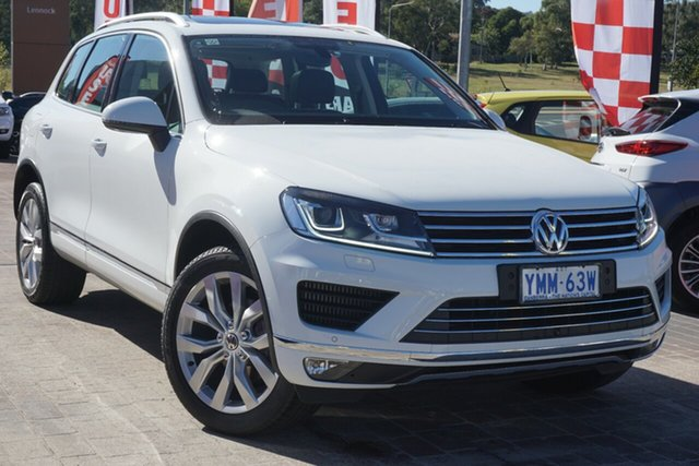 Used Volkswagen Touareg 7P MY16 V6 TDI Tiptronic 4MOTION Phillip, 2016 Volkswagen Touareg 7P MY16 V6 TDI Tiptronic 4MOTION Pure White 8 Speed Sports Automatic Wagon