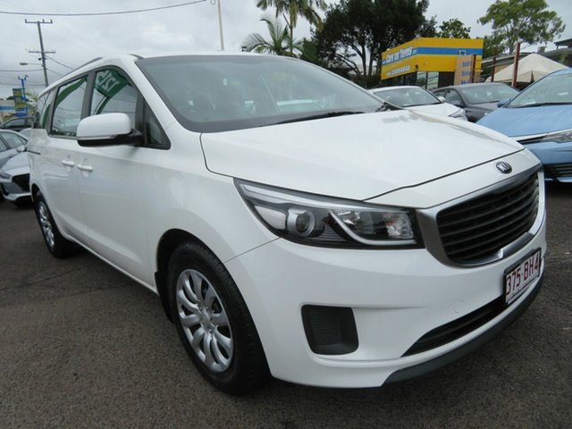 Used Kia Carnival YP MY18 S Mount Gravatt, 2017 Kia Carnival YP MY18 S White 6 Speed Sports Automatic Wagon