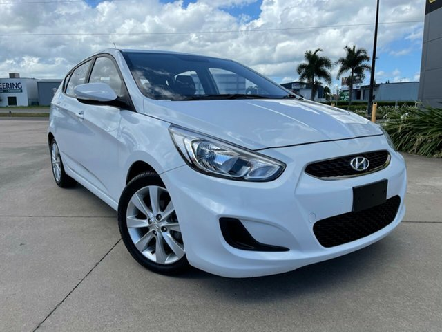 Used Hyundai Accent RB4 MY17 Active Townsville, 2017 Hyundai Accent RB4 MY17 Active White/311017 6 Speed Constant Variable Hatchback