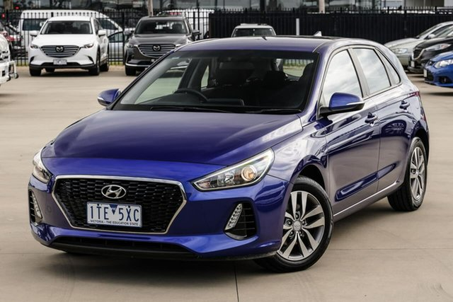 Used Hyundai i30 PD2 MY19 Active Narre Warren, 2019 Hyundai i30 PD2 MY19 Active Blue 6 Speed Sports Automatic Hatchback