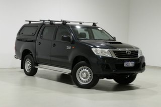 2015 Toyota Hilux KUN26R MY14 SR (4x4) Grey 5 Speed Automatic Dual Cab Pick-up.