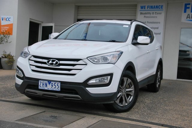 Used Hyundai Santa Fe DM Active CRDi (4x4) Wendouree, 2012 Hyundai Santa Fe DM Active CRDi (4x4) White 6 Speed Automatic Wagon