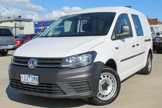 2016 Volkswagen Caddy 2KN MY17 TSI220 Maxi DSG White 7 Speed Sports Automatic Dual Clutch Van.