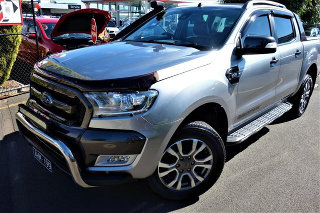 Used Ford Ranger PX MkII Wildtrak Double Cab Seaford, 2016 Ford Ranger PX MkII Wildtrak Double Cab Silver 6 Speed Sports Automatic Utility