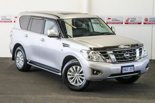 2019 Nissan Patrol Y62 Series 4 MY18 TI (4x4) (5Yr) Silver 7 Speed Automatic Wagon.