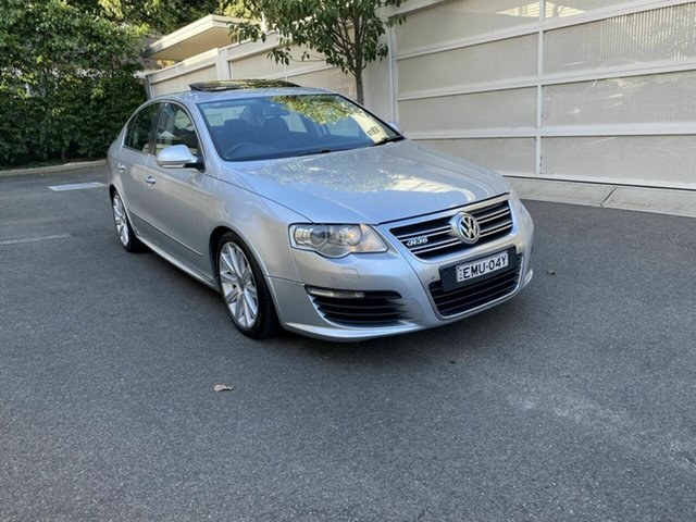 Used Volkswagen Passat Type 3C MY09 R36 DSG 4MOTION Zetland, 2008 Volkswagen Passat Type 3C MY09 R36 DSG 4MOTION Silver 6 Speed Sports Automatic Dual Clutch
