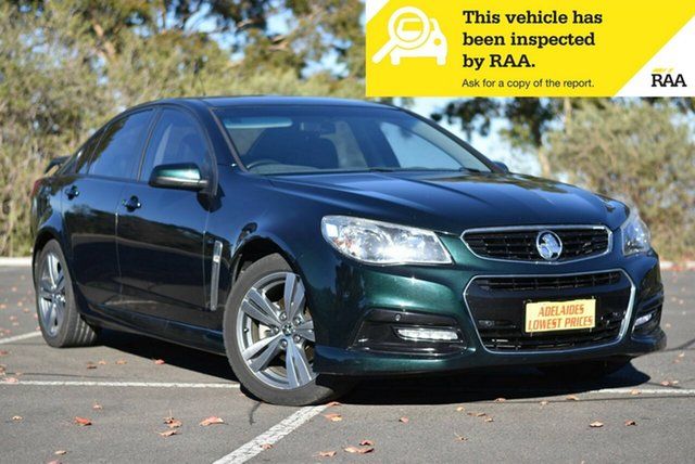 Used Holden Commodore VF MY14 SV6 Enfield, 2013 Holden Commodore VF MY14 SV6 Green 6 Speed Manual Sedan
