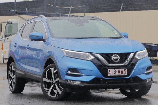 Demo Nissan Qashqai J11 Series 3 MY20 Ti X-tronic Bundamba, 2020 Nissan Qashqai J11 Series 3 MY20 Ti X-tronic Vivid Blue 1 Speed Constant Variable Wagon