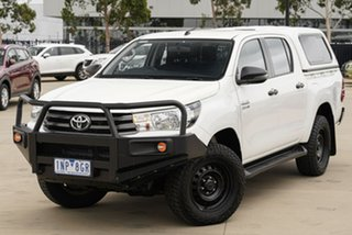 2018 Toyota Hilux GUN126R SR Double Cab White 6 Speed Sports Automatic Utility.