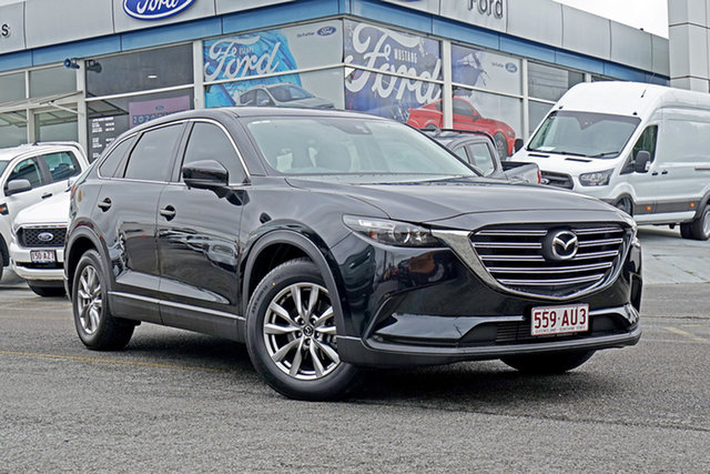 Used Mazda CX-9 TC Touring SKYACTIV-Drive Springwood, 2016 Mazda CX-9 TC Touring SKYACTIV-Drive Black 6 Speed Sports Automatic Wagon