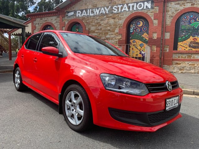 Used Volkswagen Polo 6R 66TDI DSG Comfortline Cheltenham, 2010 Volkswagen Polo 6R 66TDI DSG Comfortline Red 7 Speed Sports Automatic Dual Clutch Hatchback