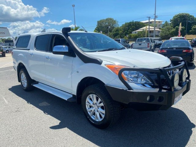 Used Mazda BT-50 UP0YF1 GT Gladstone, 2013 Mazda BT-50 UP0YF1 GT White 6 Speed Sports Automatic Utility