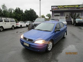 2005 Holden Astra TS CD Classic Blue 4 Speed Automatic Sedan.