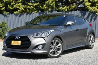 2015 Hyundai Veloster FS5 Series II SR Coupe D-CT Turbo Grey 7 Speed Sports Automatic Dual Clutch.