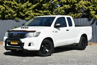 2013 Toyota Hilux KUN16R MY12 SR Xtra Cab 4x2 White 5 Speed Manual Utility.