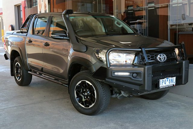 Pre-Owned Toyota Hilux GUN126R Rugged Double Cab Preston, 2019 Toyota Hilux GUN126R Rugged Double Cab Grey 6 Speed Sports Automatic Utility