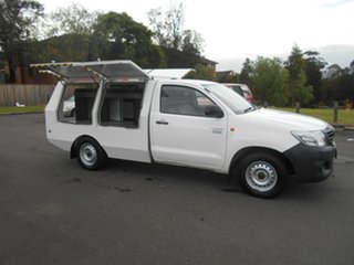 2012 Toyota Hilux TGN16R MY12 Workmate White 5 Speed Manual Cab Chassis