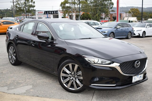Used Mazda 6 GL1032 Atenza SKYACTIV-Drive Ferntree Gully, 2018 Mazda 6 GL1032 Atenza SKYACTIV-Drive Black 6 Speed Sports Automatic Sedan