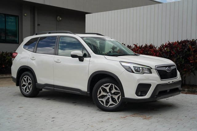 Used Subaru Forester S5 MY19 2.5i CVT AWD Cairns, 2018 Subaru Forester S5 MY19 2.5i CVT AWD White 7 Speed Constant Variable Wagon