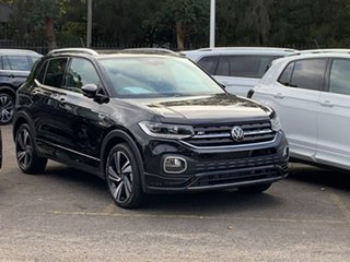 2020 Volkswagen T-Cross C1 MY21 85TSI DSG FWD Style Black 7 Speed Sports Automatic Dual Clutch Wagon