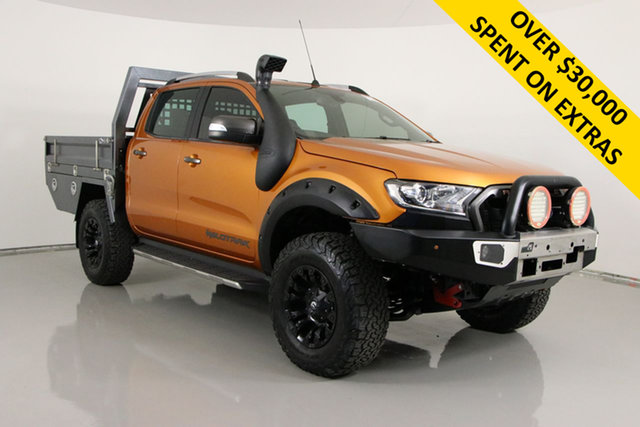 Used Ford Ranger PX MkII Wildtrak 3.2 (4x4) Bentley, 2015 Ford Ranger PX MkII Wildtrak 3.2 (4x4) Orange 6 Speed Automatic Dual Cab Pick-up