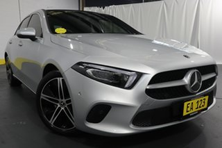 2018 Mercedes-Benz A-Class W177 A200 DCT Silver 7 Speed Sports Automatic Dual Clutch Hatchback.