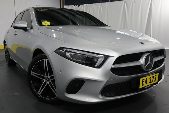 Used Mercedes-Benz A-Class W177 A200 DCT Castle Hill, 2018 Mercedes-Benz A-Class W177 A200 DCT Silver 7 Speed Sports Automatic Dual Clutch Hatchback