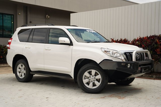 Used Toyota Landcruiser Prado GDJ150R GXL Cairns, 2015 Toyota Landcruiser Prado GDJ150R GXL White 6 Speed Sports Automatic Wagon
